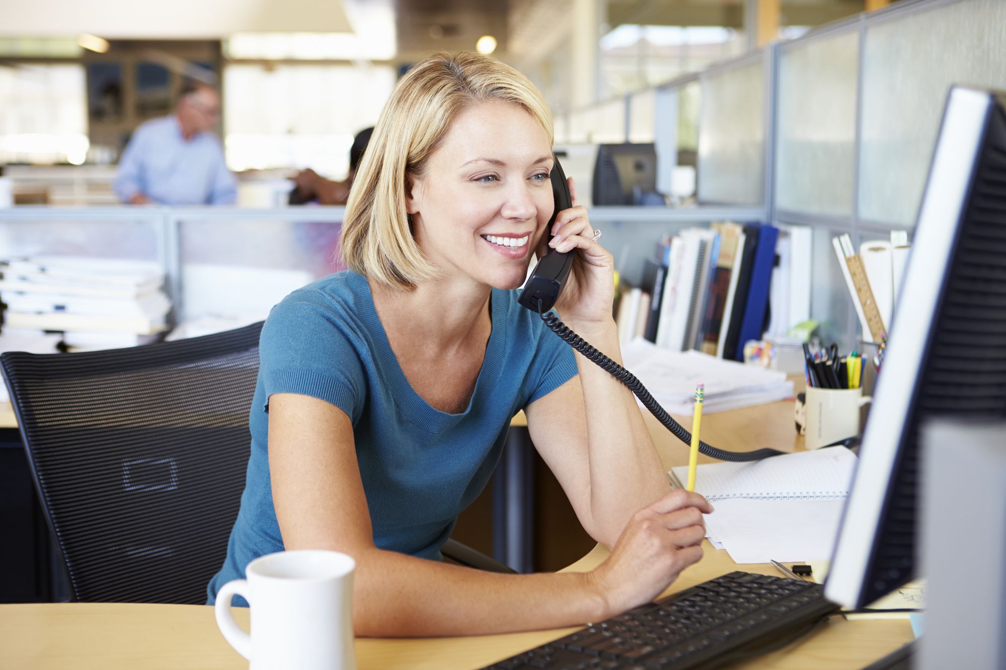 Recruitment Consultant making a sales call